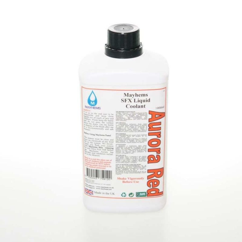 Liquide watercooling Mayhems Aurora Red Premix 1 litre