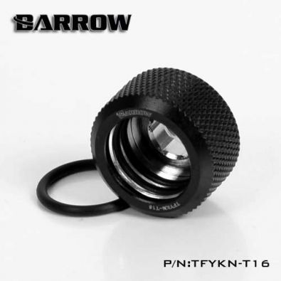 Barrow TFYKN-T16 - embout droit pour tube rigide 16mm (black)