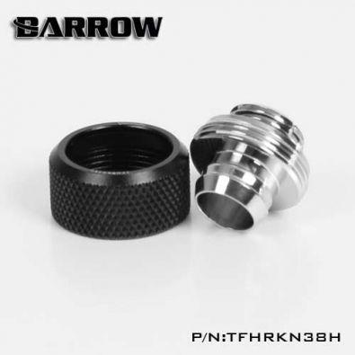 Embout Barrow TFHRKN38H - embout droit pour tuyau souple 10mm 16mm Noir