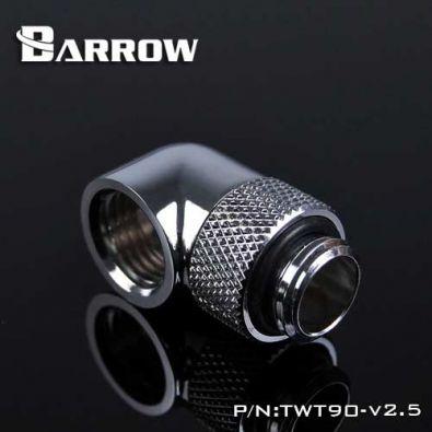 Embout Barrow TWT90-v2.5 - embout rotatif 90° couleur argent