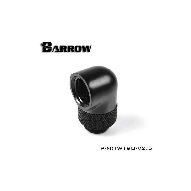 Embout Barrow TWT90-v2.5 - embout rotatif 90° couleur noire