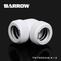 Embout Barrow TWT90KNS-K12 - coude 90° pour tube rigide 12mm blanc