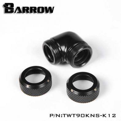 Embout Barrow TWT90KNS-K12 - coude 90° pour tube rigide 12mm noir