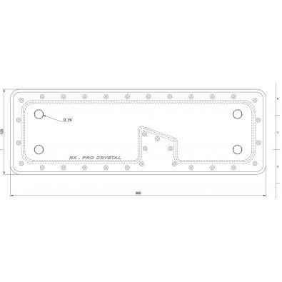 Réservoir Hybrid Cooling Modding - RX PRO Crystal - réservoir sur mesure